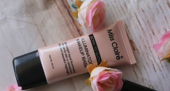 Senhorita avaliação iluminador claire base de maquiagem & amostra (01 raio de sol)
