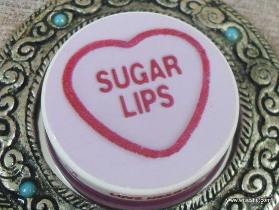 Amor mua corações lip balm bordos do açúcar comentário & swatches