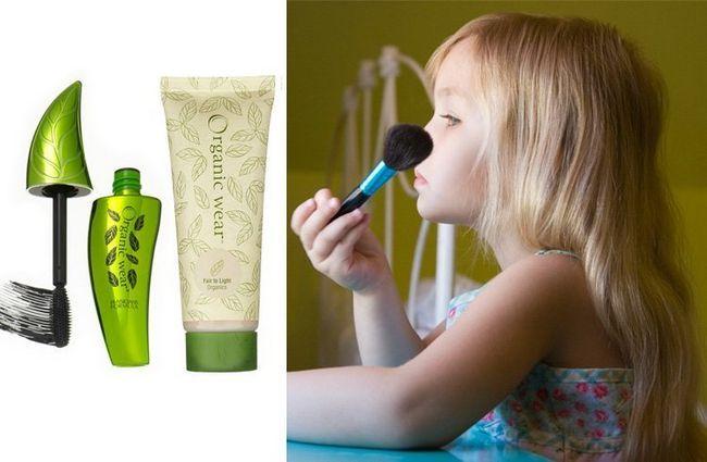 Criança maquiagem segura