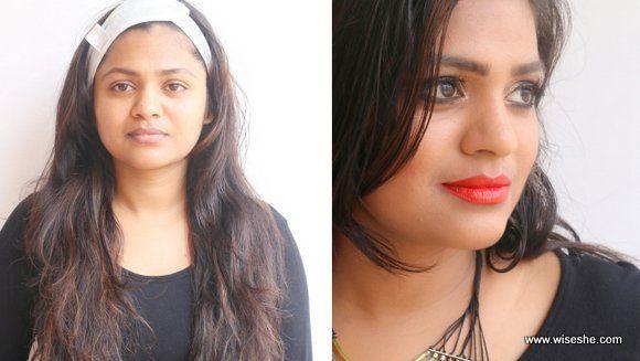 look de maquiagem com Nyx simplesmente creme de bordo vermelho