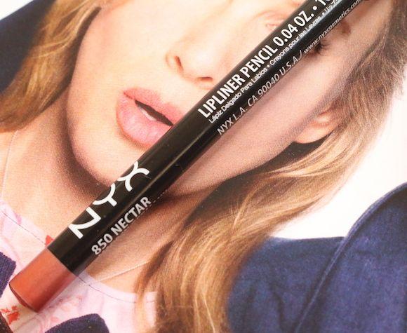 Nyx lápis delineador de lábios avaliação 850 néctar