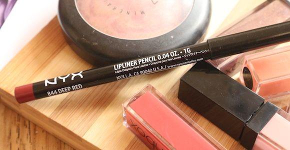 Nyx lápis labial magro vermelho escuro avaliação, swatch e fotos