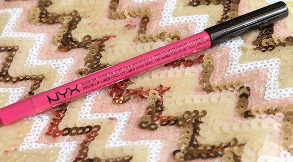 Slide pink nyx doce no lábio avaliação lápis liner