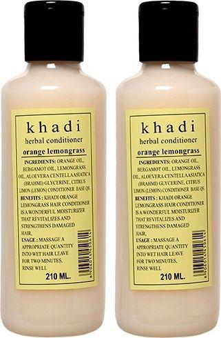 Condicionador Khadi cabelo alaranjado Lemongrass