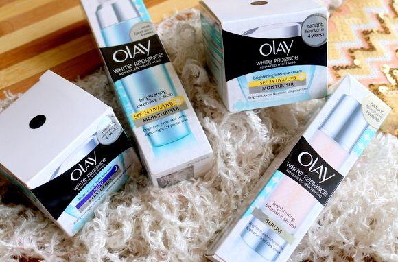 Olay pele branca radiância clareamento da pele cuidados revisão regime