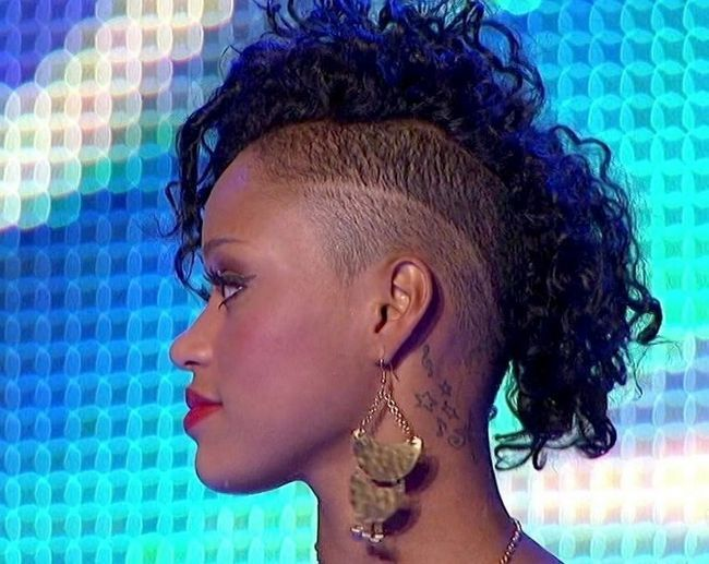 Paige Thomas` Tattoos - Behind Ear Star Tattoo