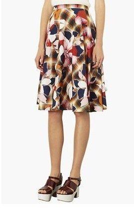 Topshop Marigold Midi Skater Skirt