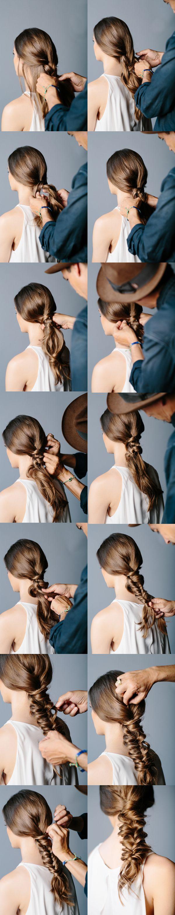 Tutorial penteado bonito para a aparência elegante
