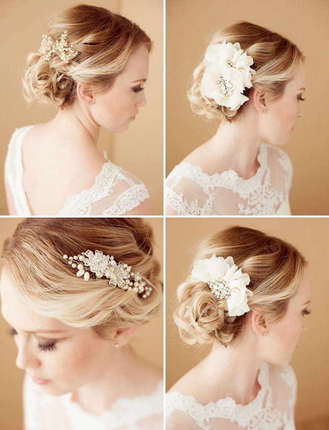 Casamento penteados bonitos com acessórios