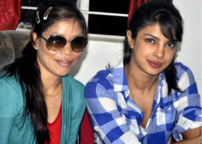 Priyanka Chopra com Mary Kom