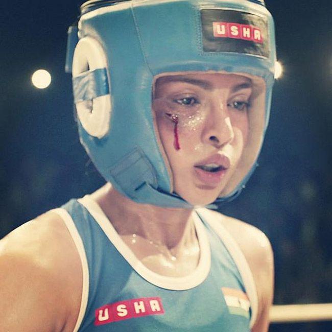 Priyanka cena de boxe filmando