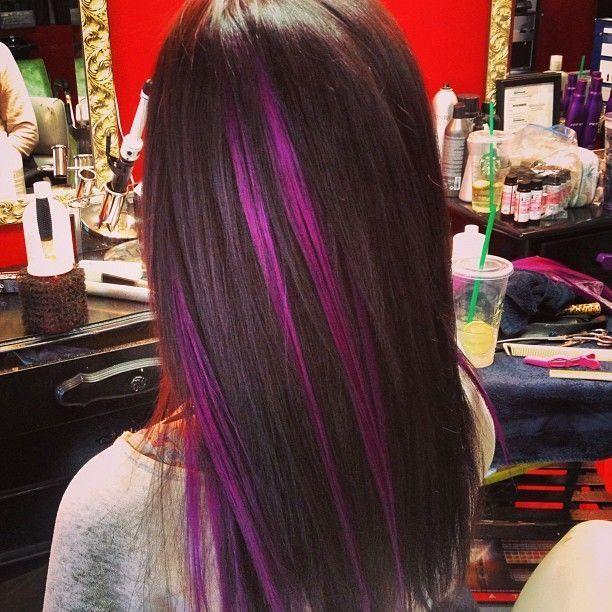 Reflexos púrpura para o verão