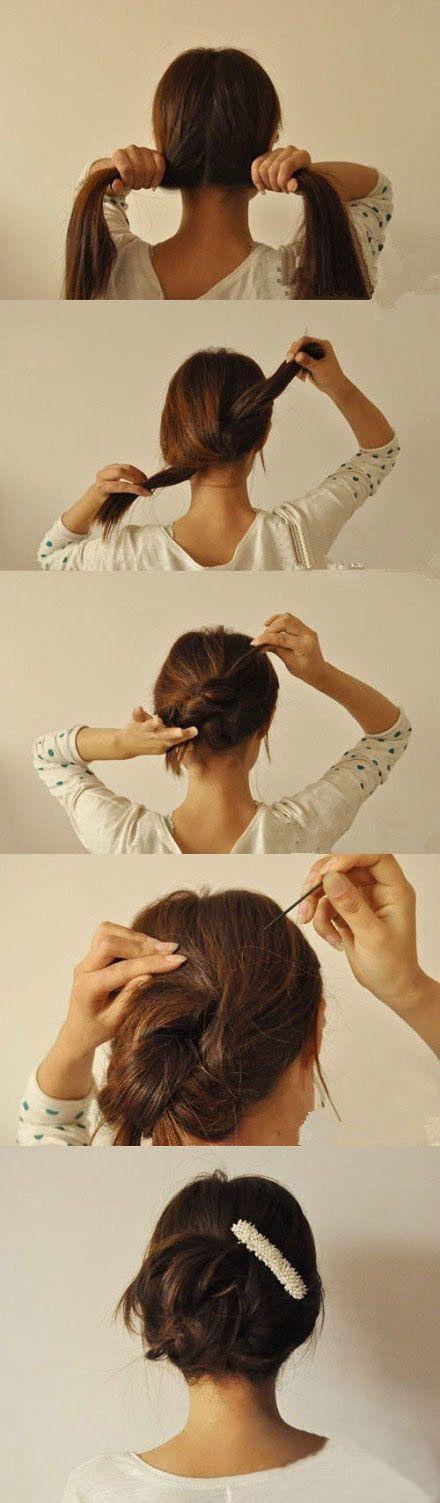Tutoriais penteado rápido e chique para meninas preguiçoso