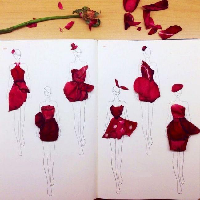 Reais ilustrações de moda florais: ciao graça é inspirado na natureza