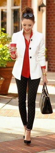 mulheres estilos vermelho e preto