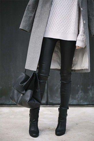 Blusas e calças de couro