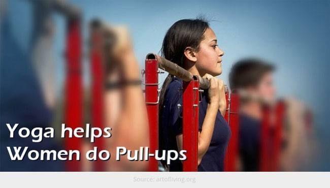 Seguros de ioga pull-ups fácil para as mulheres