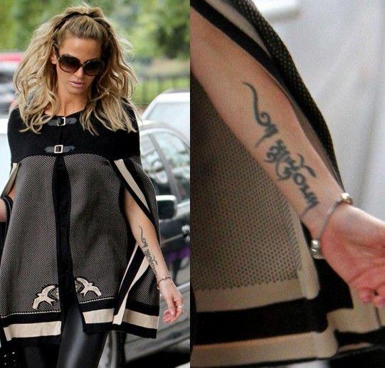 Tatuagens de sarah harding - lettering tatuagem no antebraço