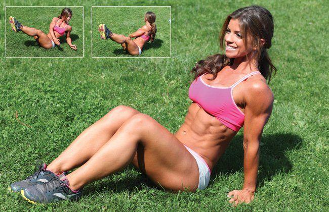 Sentadas torções russos - Mulheres`s Health & Fitness