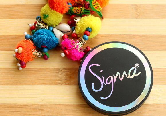 Sigma aura de pó de blush revisão cor-de-rosa, amostras e fotd