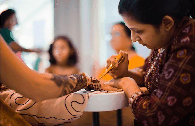 Significado do mehndi em casamentos indianos