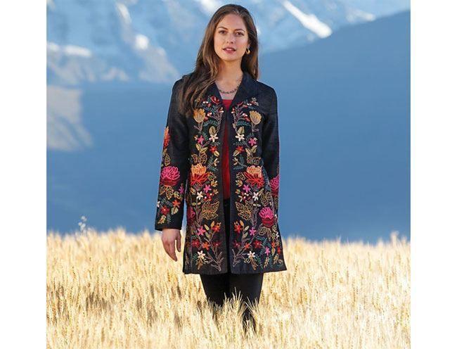 Jacket Himalayan bordado Silk