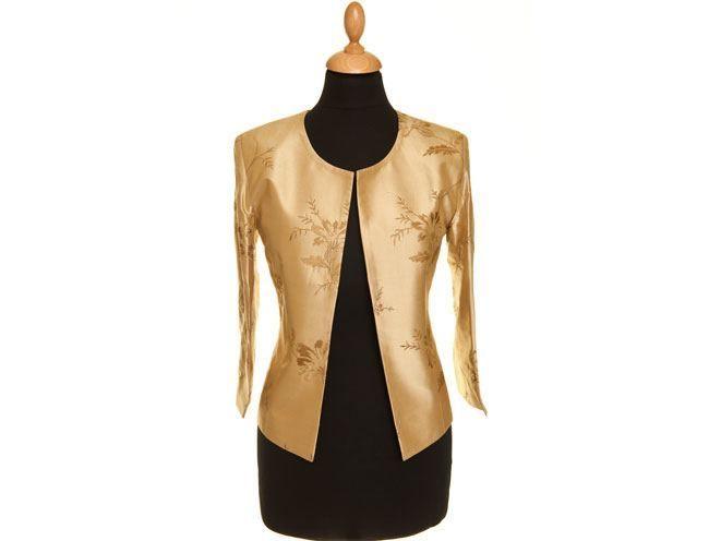 Anya Jacket em Gold mel
