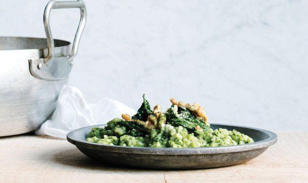 Risotto forno com Kale Pesto