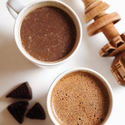 Receita chocolate quente magro