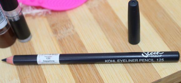 Elegante maquiagem kohl lápis delineador avaliação safira & swatches