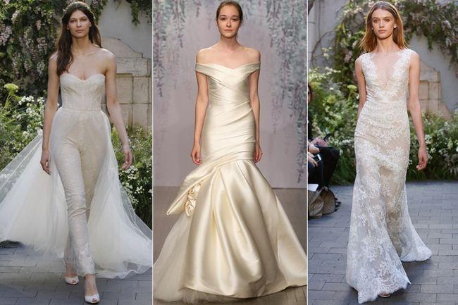 Esgueirar pico em vestidos de noiva monique lhuillier denunciar a ligação se faça suas compras de moda