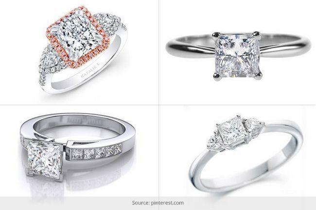 Então como é que você quer usar o diamante do corte da princesa?