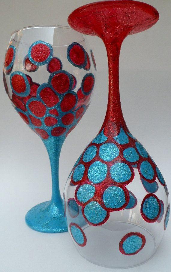 Detalhes no vidro de vinho