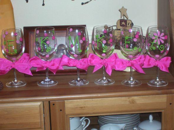 Vidros de vinho pintadas
