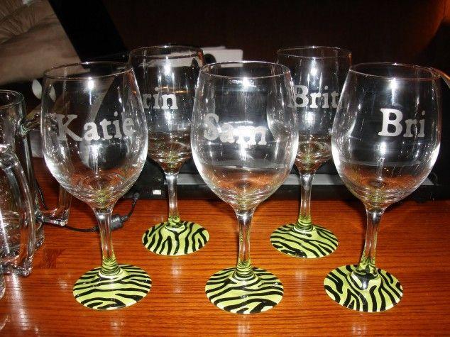 Zebra Óculos de pintura de vinho