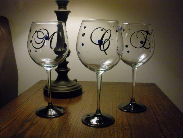 Vidros de vinho carta