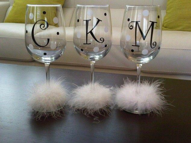 Vidros de vinho elegantes