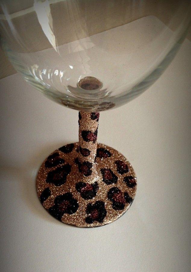 Leopardo Óculos impressão do vinho