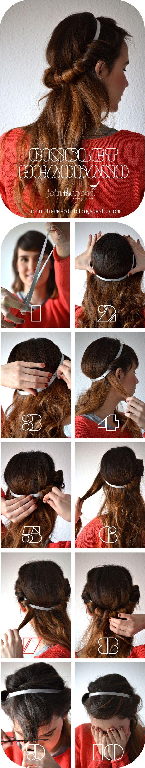 Apimentar seus penteados com acessório elegante: tutoriais de cabelo