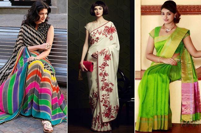 Primavera está batendo aqui está 20 designs saree sensuais e coloridos para você