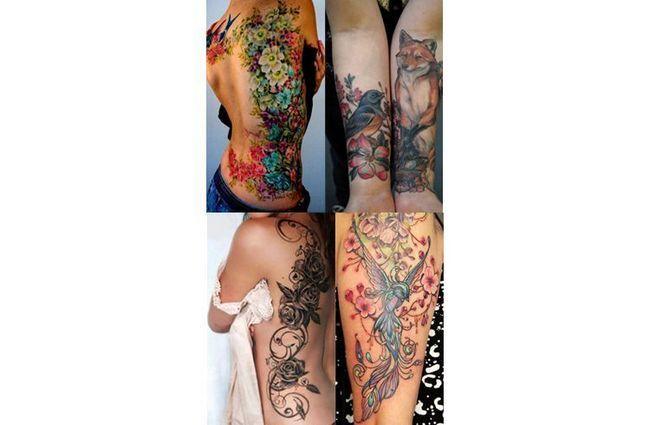 desenhos florais tatuagem no verão
