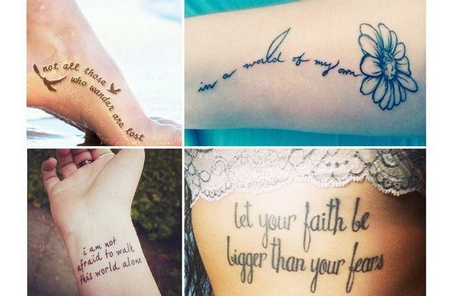 Mulheres desenhos tatuagem em citações