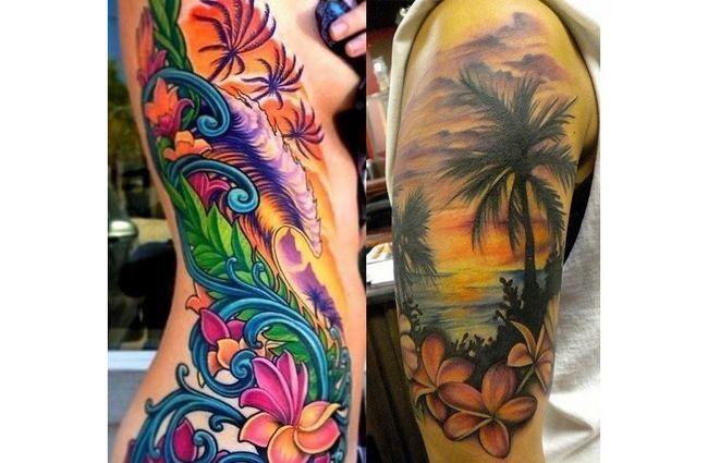 Praia em tatuagem