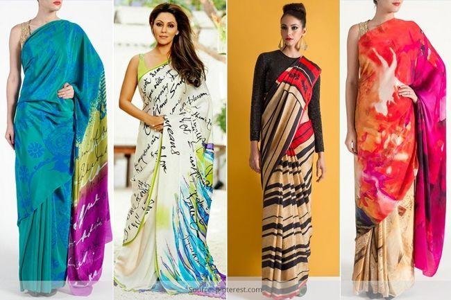 Ficar à frente na corrida de moda com sarees de impressão digital