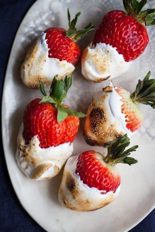 Marshmallow brindado Morangos