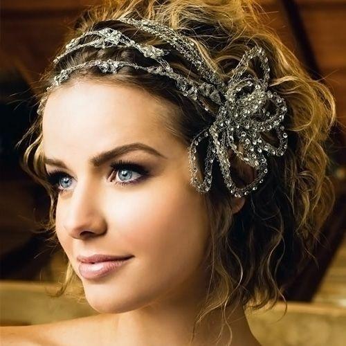 Deslumbrantes curto penteados casamento para as mulheres