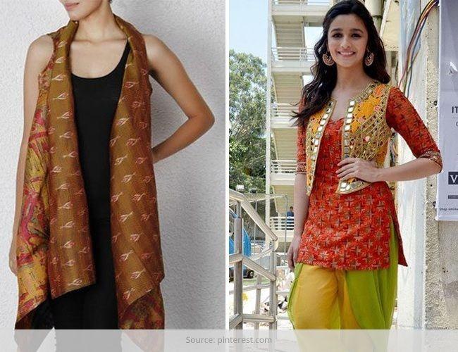Casacos de estilo com desgaste indiano