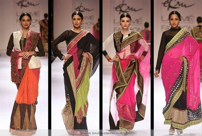 Denominar o sari: como usar saree em estilo moderno