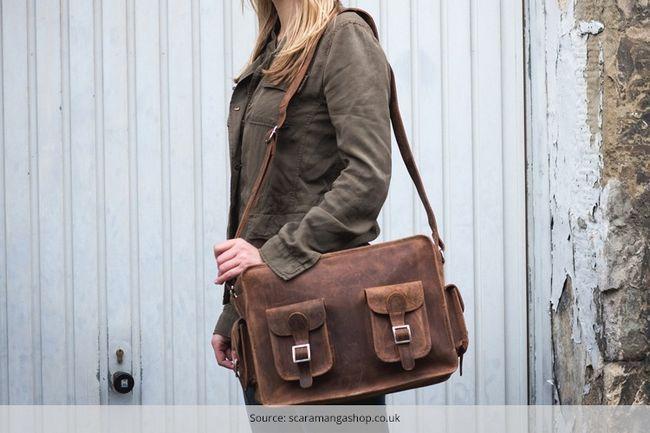 E as melhores malas de viagem de couro elegante para a sua viagem de fim de semana
