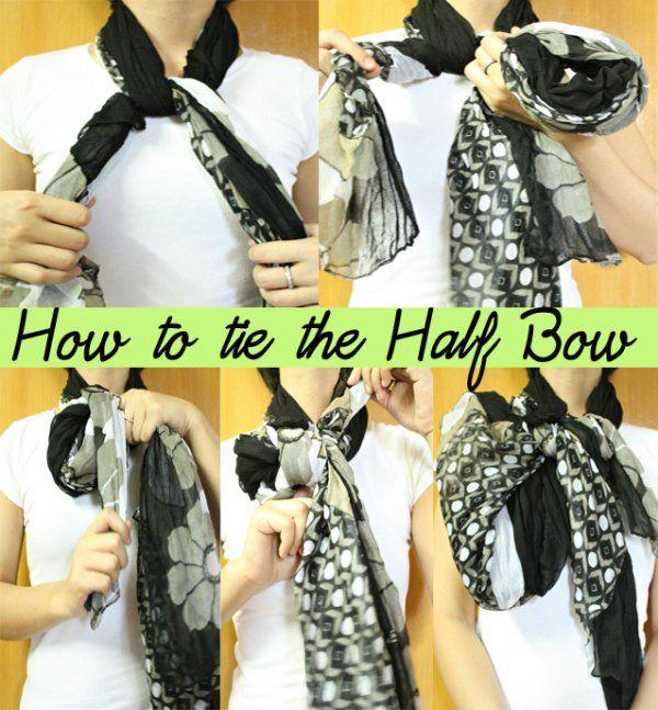 Metade Bow com um lenço